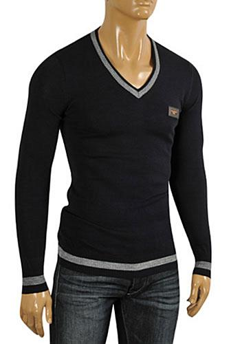 Mens Designer Clothes | DOLCE & GABBANA Men's Knit Fitted Sweater #236