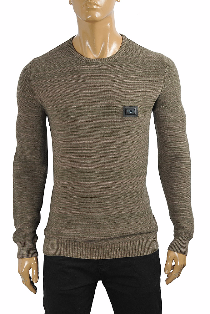 Mens Designer Clothes | DOLCE & GABBANA men's knitted round neck sweater 250