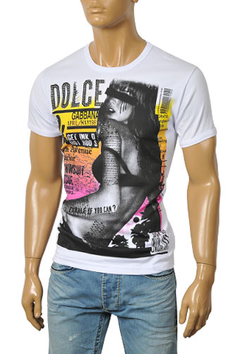 Mens Designer Clothes | DOLCE & GABBANA Men's Short Sleeve Tee #179