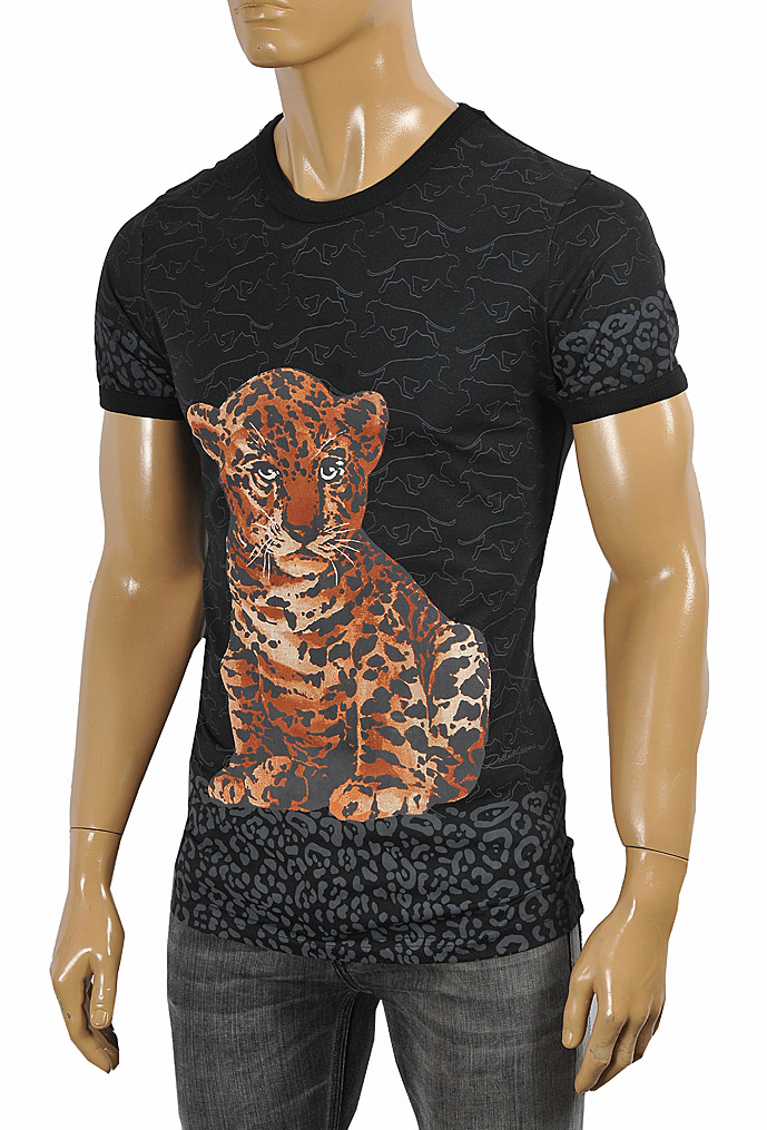 Mens Designer Clothes | DOLCE & GABBANA T-Shirt with leopard print #252