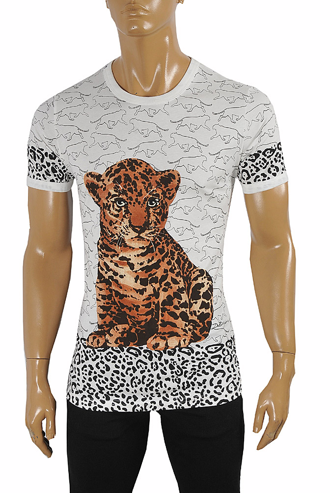 Mens Designer Clothes | DOLCE & GABBANA T-Shirt with leopard print #253