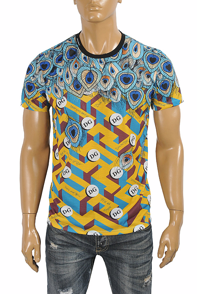 Mens Designer Clothes | DOLCE & GABBANA men's t-shirt with multiple print 267
