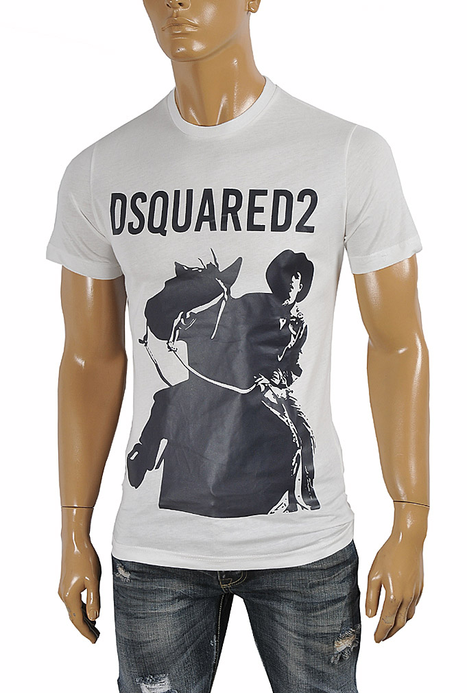 Mens Designer Clothes | DSQUARED Men's T-Shirt with front print 11