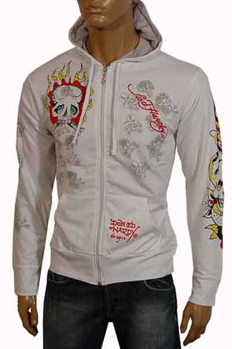 Mens Designer Clothes | ED HARDY Cotton Hoodie #10