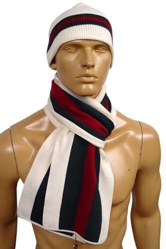 Mens Designer Clothes | GUCCI Hat/Scarf Set #46
