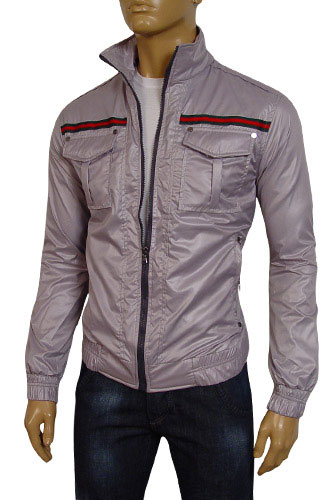 Mens Designer Clothes | GUCCI Mens Zip Up Spring Jacket #74
