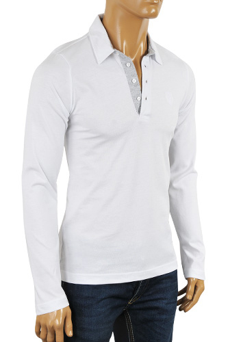 Mens Designer Clothes | GUCCI Men's Long Sleeve Polo Shirt #283