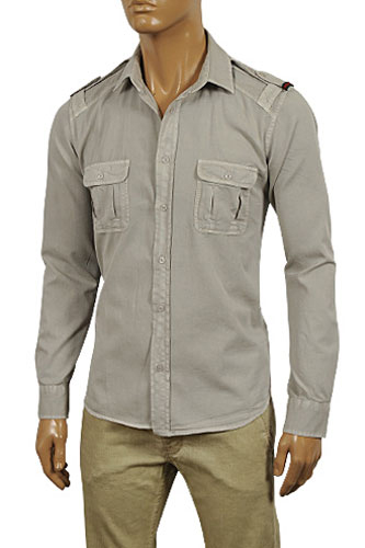 Mens Designer Clothes | GUCCI Men's Button Up Casual Shirt #291
