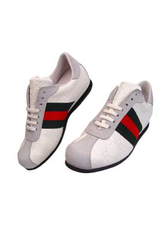 Designer Clothes Shoes | GUCCI Ladies Leather Sneakers Shoes #170