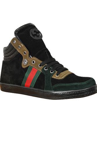 Designer Clothes Shoes | GUCCI Men's High Leather Sneaker Shoes #249