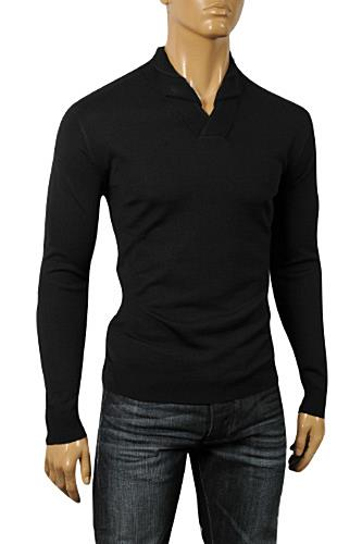 Mens Designer Clothes | GUCCI Men's Crew Neck Knit Warm V-Neck Sweater #84