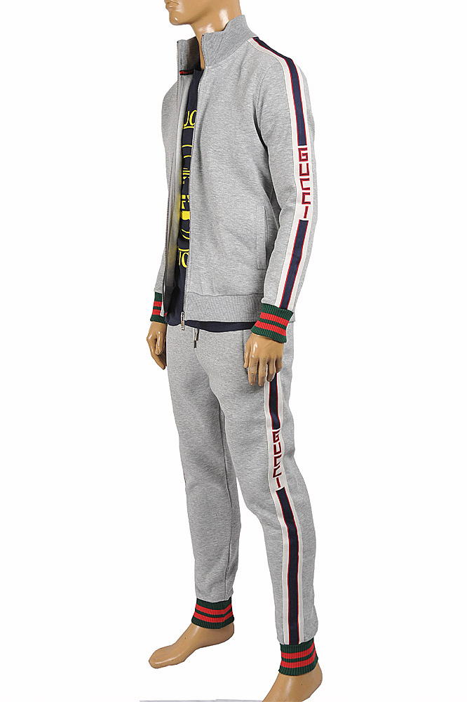 Mens Designer Clothes | GUCCI Men's jogging suit with red and green stripes 183