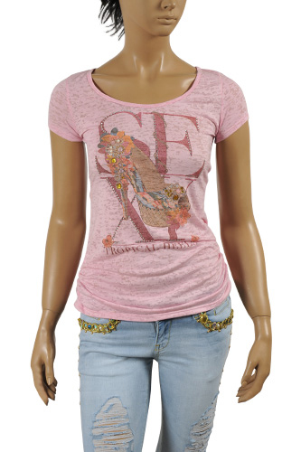 Womens Designer Clothes | GUCCI Ladies' Crewneck Short Sleeve Tee #160