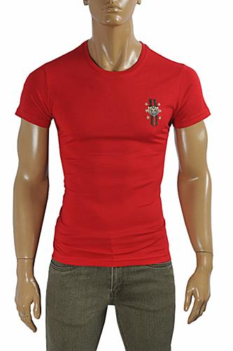 Mens Designer Clothes | GUCCI cotton T-shirt with front embroidery #230