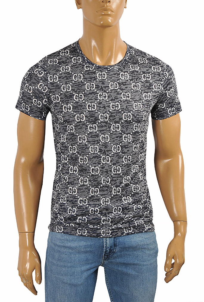 Mens Designer Clothes | GUCCI cotton T-shirt with GG print 254