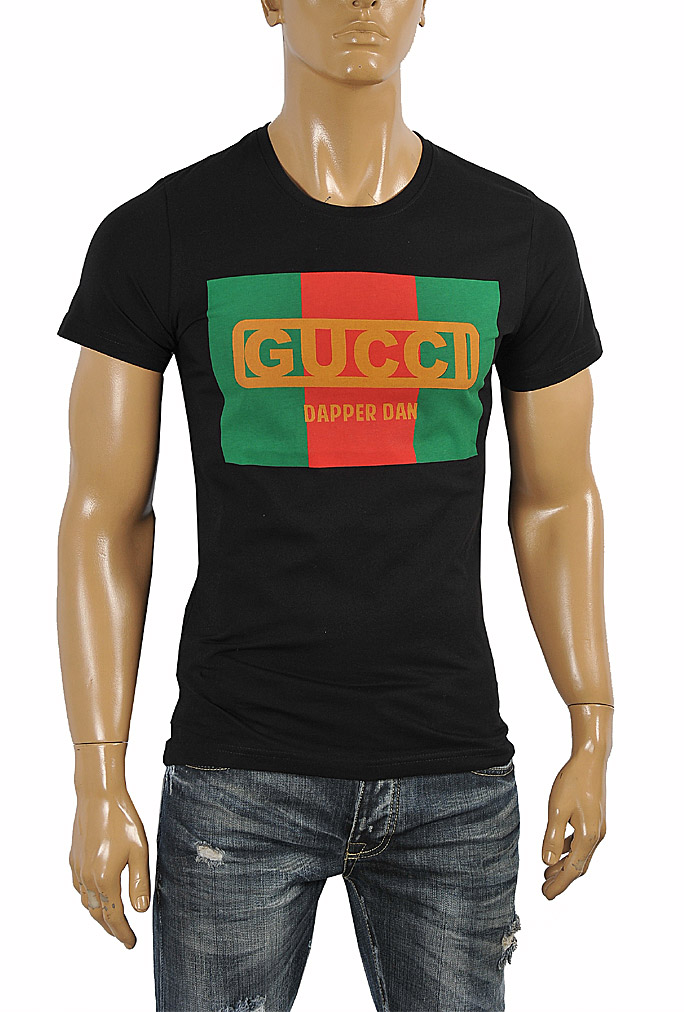Mens Designer Clothes | GUCCI cotton T-shirt with front print 255
