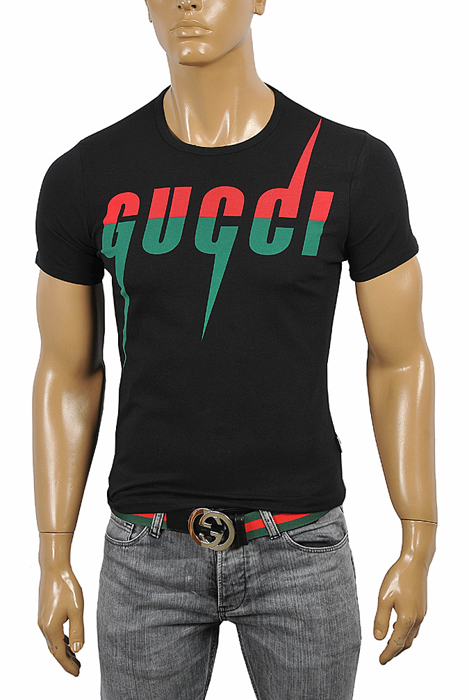 Mens Designer Clothes | GUCCI cotton T-shirt with front print 258