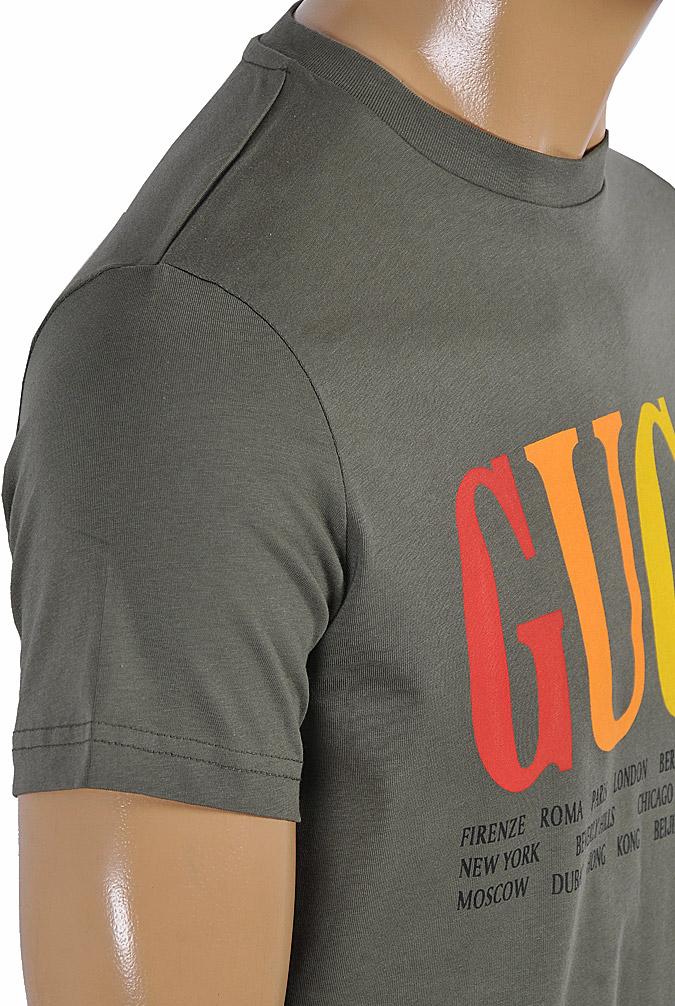 Mens Designer Clothes | GUCCI cotton T-shirt with front