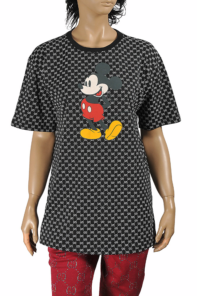 Womens Designer Clothes | DISNEY x GUCCI women's T-shirt with front Mickey Mouse print 274