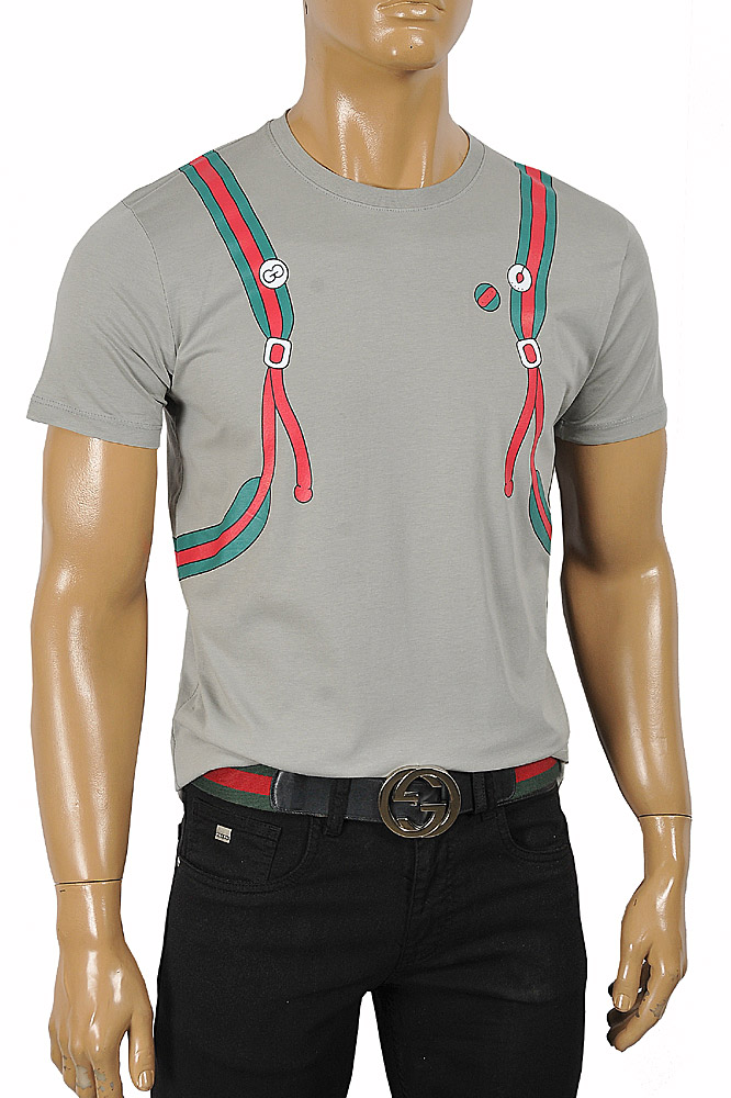 Mens Designer Clothes | GUCCI Men's Backpack Print Cotton Tee 290