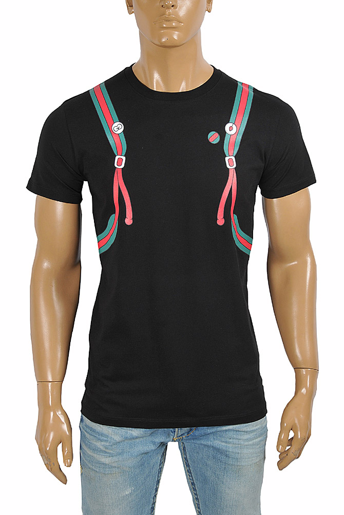 Mens Designer Clothes | GUCCI Men's Backpack Print Cotton Tee 291