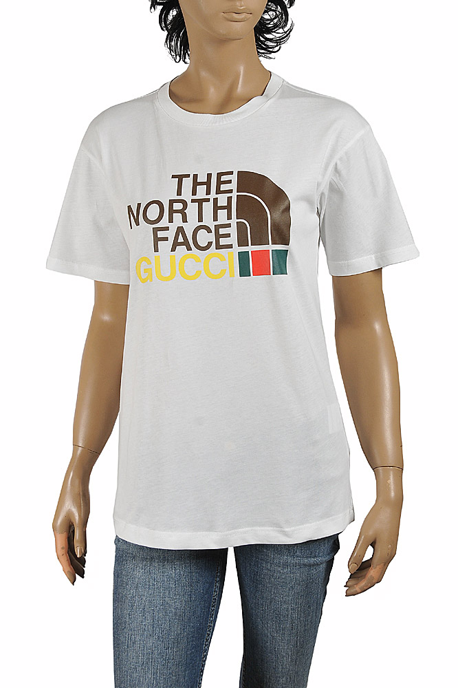 Womens Designer Clothes | The North Face x Gucci X Cotton T-Shirt 293