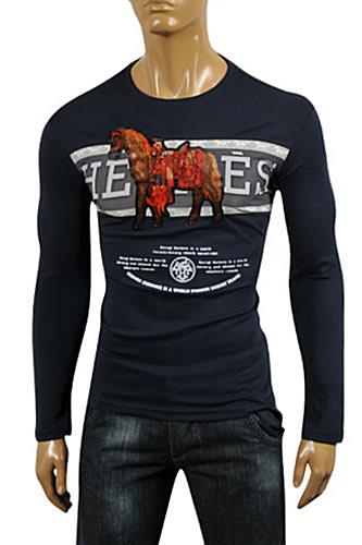 Mens Designer Clothes | HERMES Men's Long Sleeve Fitted Shirt #2