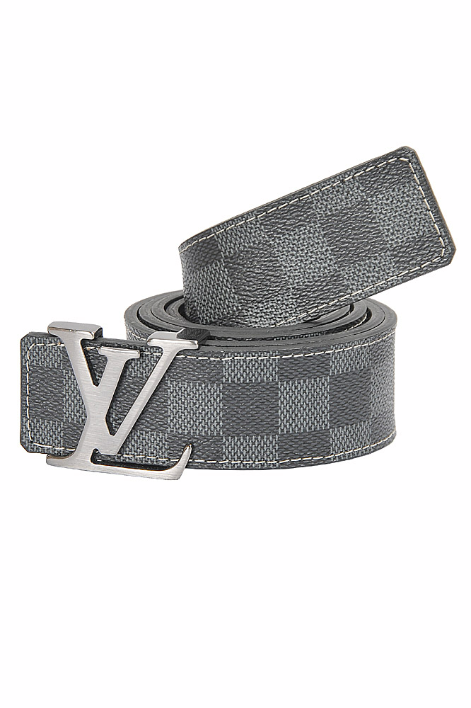 Mens Designer Clothes | LOUIS VUITTON leather belt with silver buckle 77