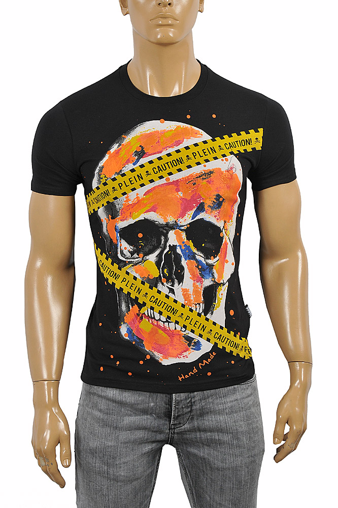 Mens Designer Clothes | PHILIPP PLEIN Cotton T-shirt 5