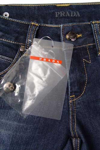 Womens Designer Clothes Prada Ladies Jeans In Navy Blue