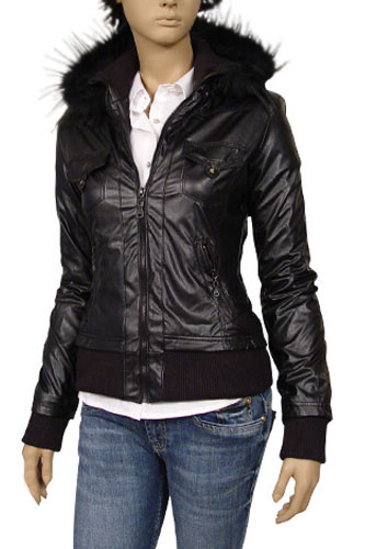 Womens Designer Clothes | TodayFashion Ladies Artificial Leather/Fur Jacket #312