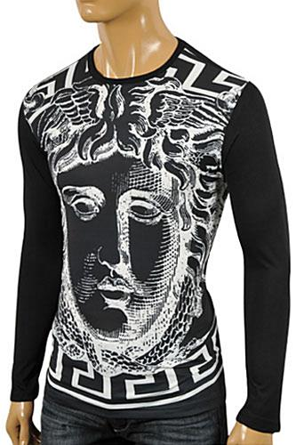 Mens Designer Clothes | VERSACE Men's Long Sleeve Fitted Shirt #157