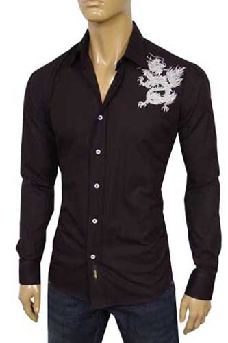 Mens Designer Clothes Versace Men Fitted Dress Shirt 118