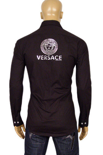 Mens Designer Clothes Versace Mens Dress Shirt 144