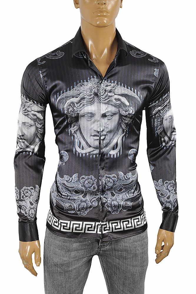 Mens Designer Clothes | VERSACE Medusa Men's Dress Shirt 176