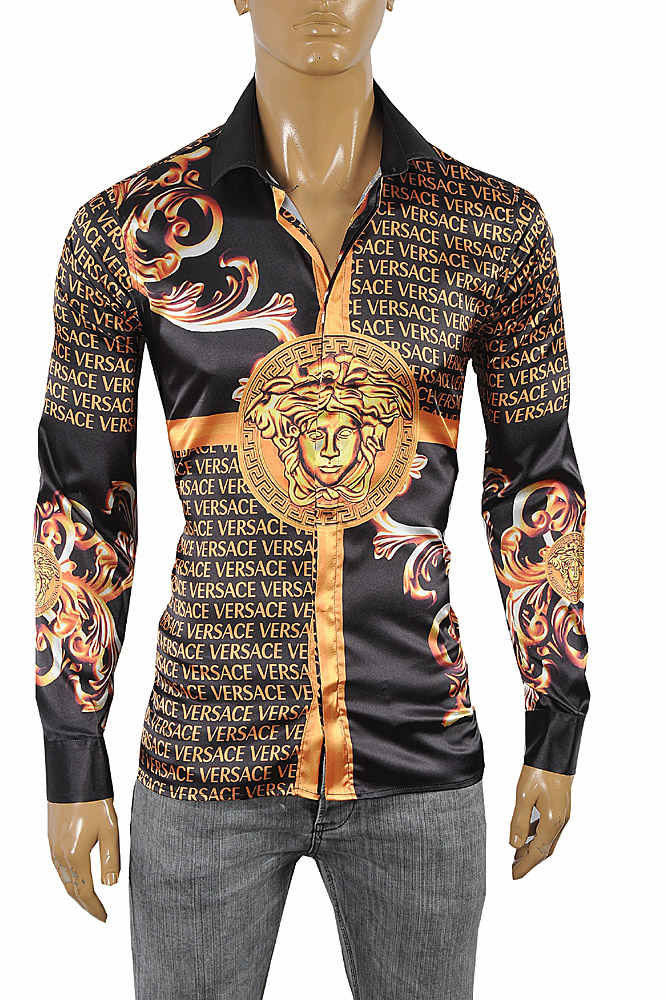 Mens Designer Clothes | VERSACE Medusa Men's Dress Shirt 178