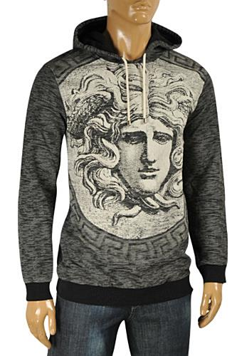 Mens Designer Clothes | VERSACE Warm Knit Hooded Sweater #24
