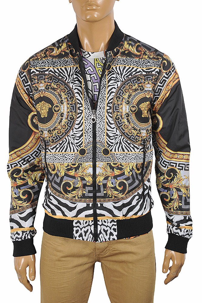Mens Designer Clothes | VERSACE Medusa men's bomber jacket 31