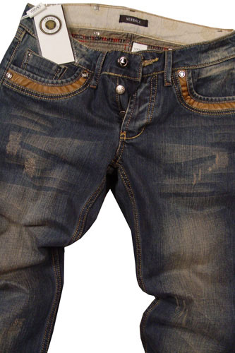 Mens Designer Clothes | VERSACE Mens Wash Denim Jeans #37