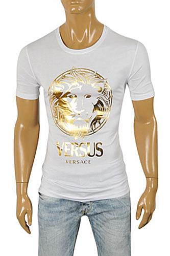 Mens Designer Clothes | VERSACE Men's Short Sleeve Tee #0100