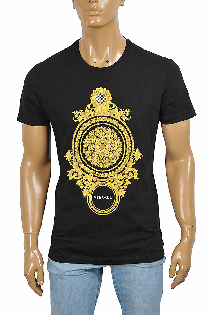 Mens Designer Clothes | VERSACE men's t-shirt with front print 117