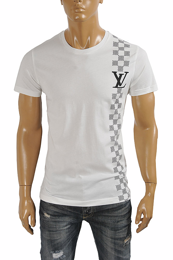 Mens Designer Clothes | LOUIS VUITTON men's monogram printed t-shirt 4