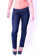 PRADA Ladies Classic Jeans In Navy Blue #9