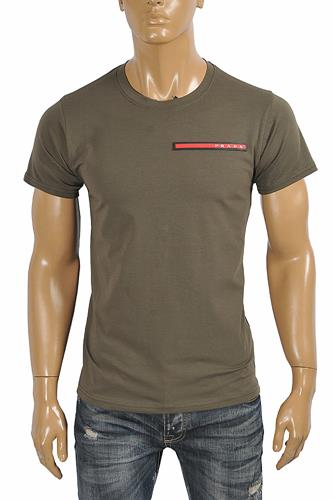 PRADA Men's t-shirt with front logo appliqué 114
