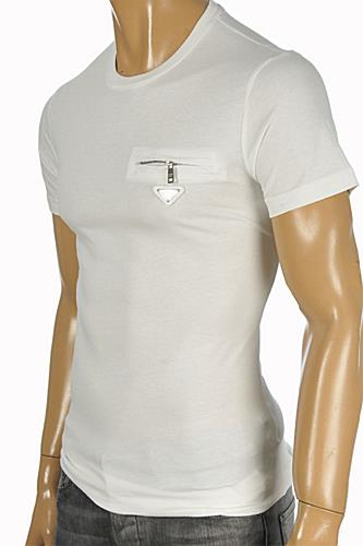 PRADA Men's White Fitted T-Shirt #97