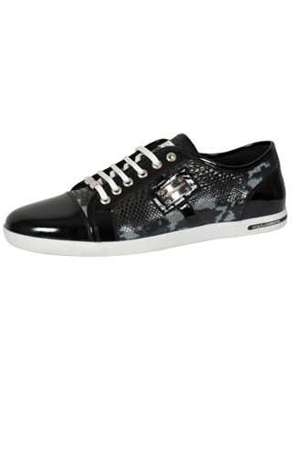 Designer Clothes Shoes | DOLCE & GABBANA Men's Leather Sneaker Shoes #255 View 1