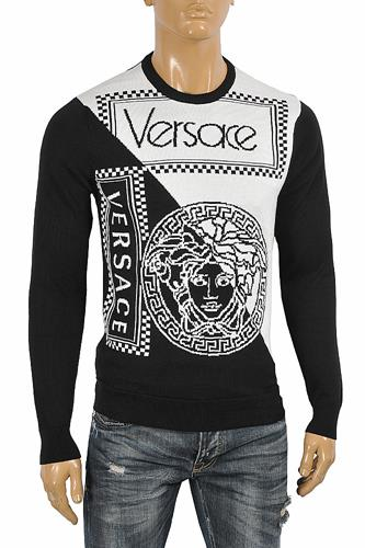 VERSACE men's round neck sweater Top 27