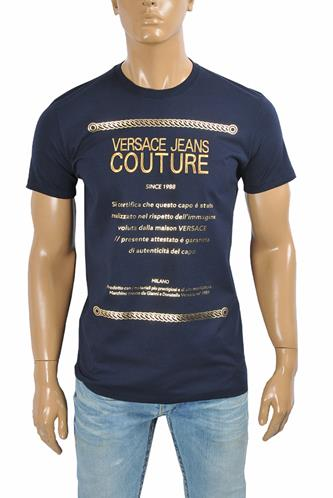 VERSACE men's t-shirt with front embroidery logo 112