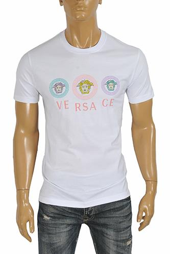 VERSACE men's t-shirt with front logo print 113