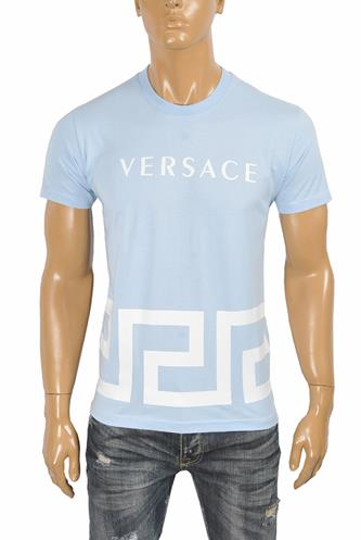 VERSACE men's t-shirt with front logo print 121